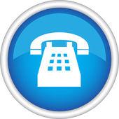 Vektör işaret telefonlu yuvarlak — Stok Vektör