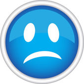 Sad emoticon icon — Vector de stock