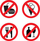 Prohibiting vector icons — Stock Vector