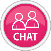 Chat sign — Stock Vector