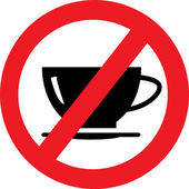 No coffee sign — Stockvector