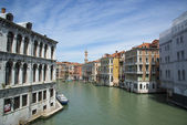 White boat on a mooring in Venice, Italy — Stock Photo