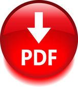 Pictogram met het label pdf — Stockvector