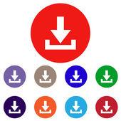 Download arrow icon — Stock Vector