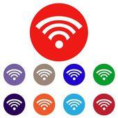 Wi-fi 符号集 — 图库矢量图片