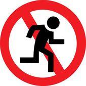 Prohibiting running — Vettoriale Stock