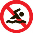 Постер, плакат: Prohibiting swimming
