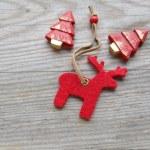 Reindeer and Christmas tree — Stock Photo
