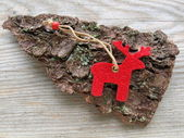 Red reindeer — Stock Photo