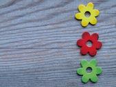 Drewniane kwiaty — Zdjęcie stockowe