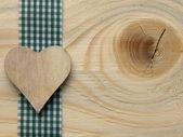 Деревянный фон с проверенных ленты — Стоковое фото