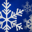 Blue background with snow flakes. — Stock Photo