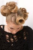 Módní žena s krásným make-upu — Stock fotografie