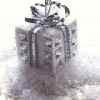 Silver christmas gift — Stock Photo #16962801