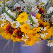 Beautiful bouquet of wild flowers — Stock Photo