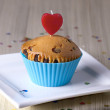 Cute Chocolate Cupcake — Stock Photo
