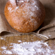 Baked homemade bread — Stock Photo