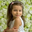 Portrait of pretty 5-year-old girl — Stockfoto