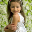 Portrait of a smiling 5-year-old girl — Stockfoto