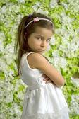 Portret obrażony 5-letnia dziewczynka — Zdjęcie stockowe