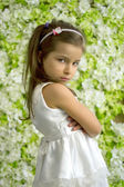 Ritratto offeso-anno-vecchia ragazza 5 — Foto Stock
