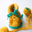 Stockfoto: Knitted booties