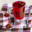 Red Tea (karkade) with anisetree — Stock Photo