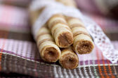 Wafer roll sticks — Stock Photo