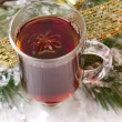 Stock Photo: Christmas mug with tedecorated