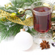Christmas mug with tedecorated — Stock Photo #32620521