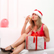 Christmas party girl — Stock Photo