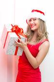 Christmas woman portrait — Stock Photo