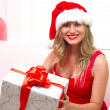Christmas Santa hat — Stock Photo