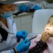 Girl at the dentist. — Stock Photo