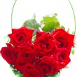 Stock Photo: Beautiful bouquet of red roses.