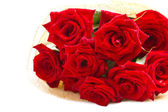 Beautiful bouquet of red roses. — Stock Photo