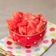 Stock Photo: Watermelon chunks