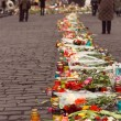 Stock Photo: Kiev, Ukraine, February: flowers, lamps in memory
