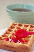 Belgian waffles — Stock Photo