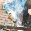 Man welding - Stock Photo