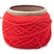 Skein of red yarn — Stock Photo