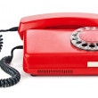 Stock Photo: Red old telephone
