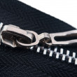 Closeup of zipper — Stock Photo
