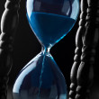 Hourglass background — Stock Photo