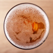 Stock Photo: Glass of beer top view