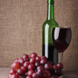 Wine glass with grape — Stock Photo #19667841
