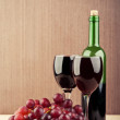 Wine glasses on table — Stock Photo