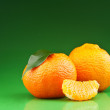 Fresh orange mandarins — Stock Photo #19687495