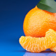 Stock Photo: Fresh orange mandarins