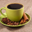 Stock Photo: Green cup of coffee